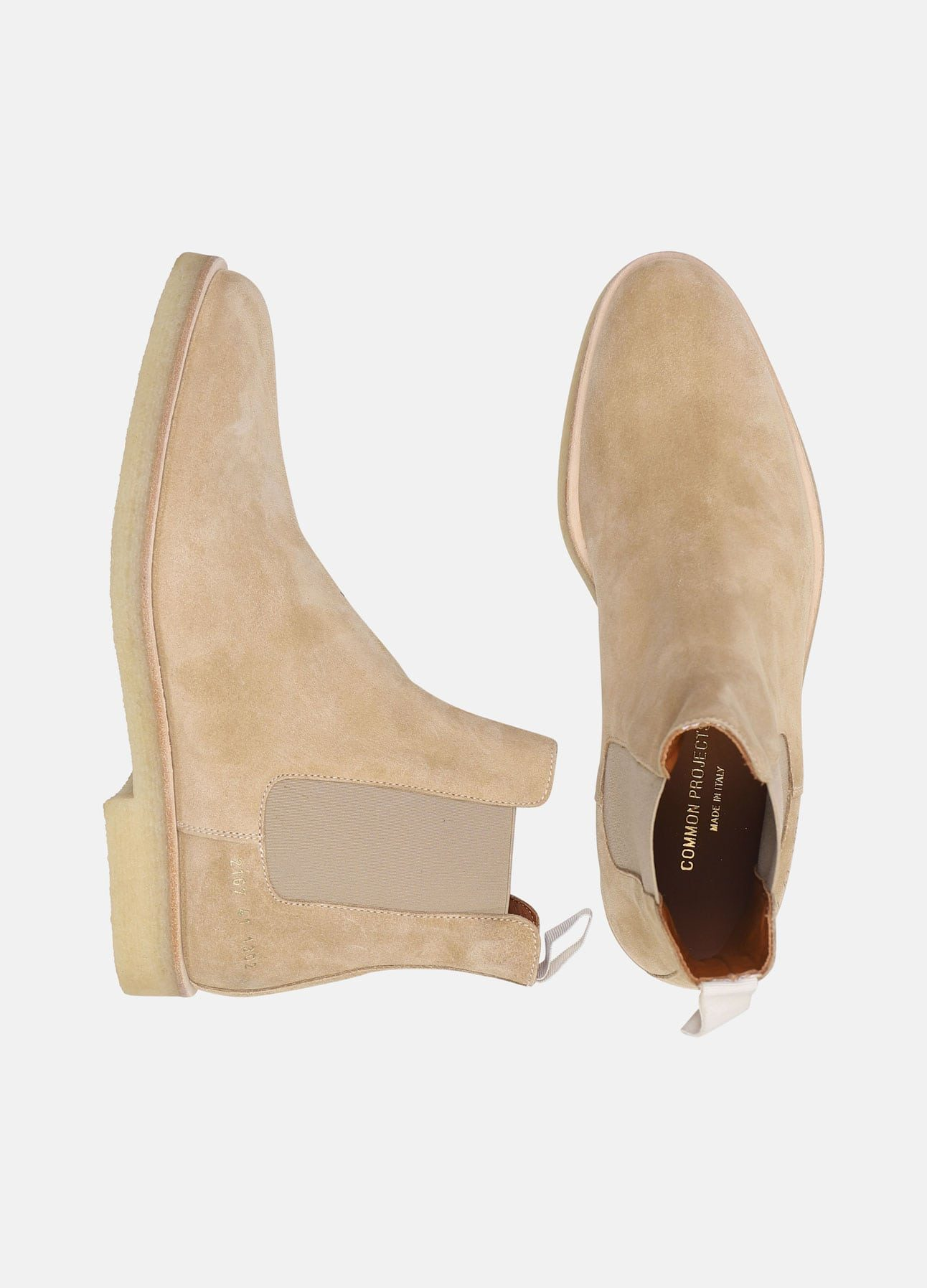 Beige Chelsea boot fra Common Projects