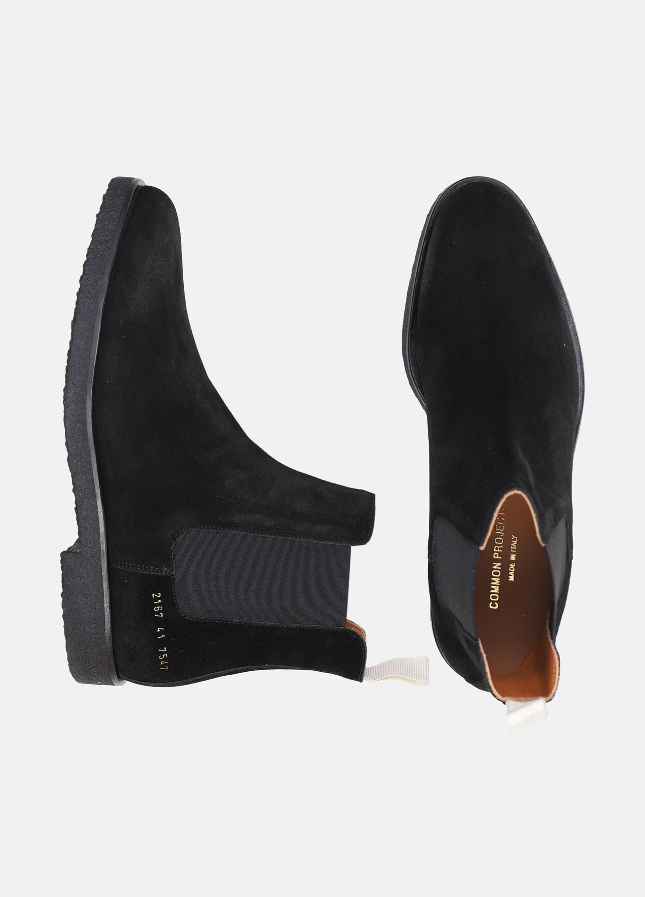 Sort Chelsea boot fra Common Projects