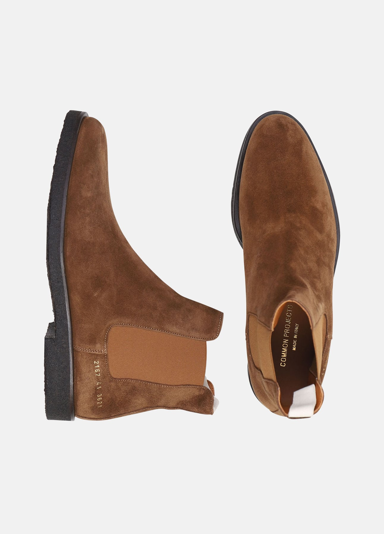 Brun Chelsea boot fra Common Projects