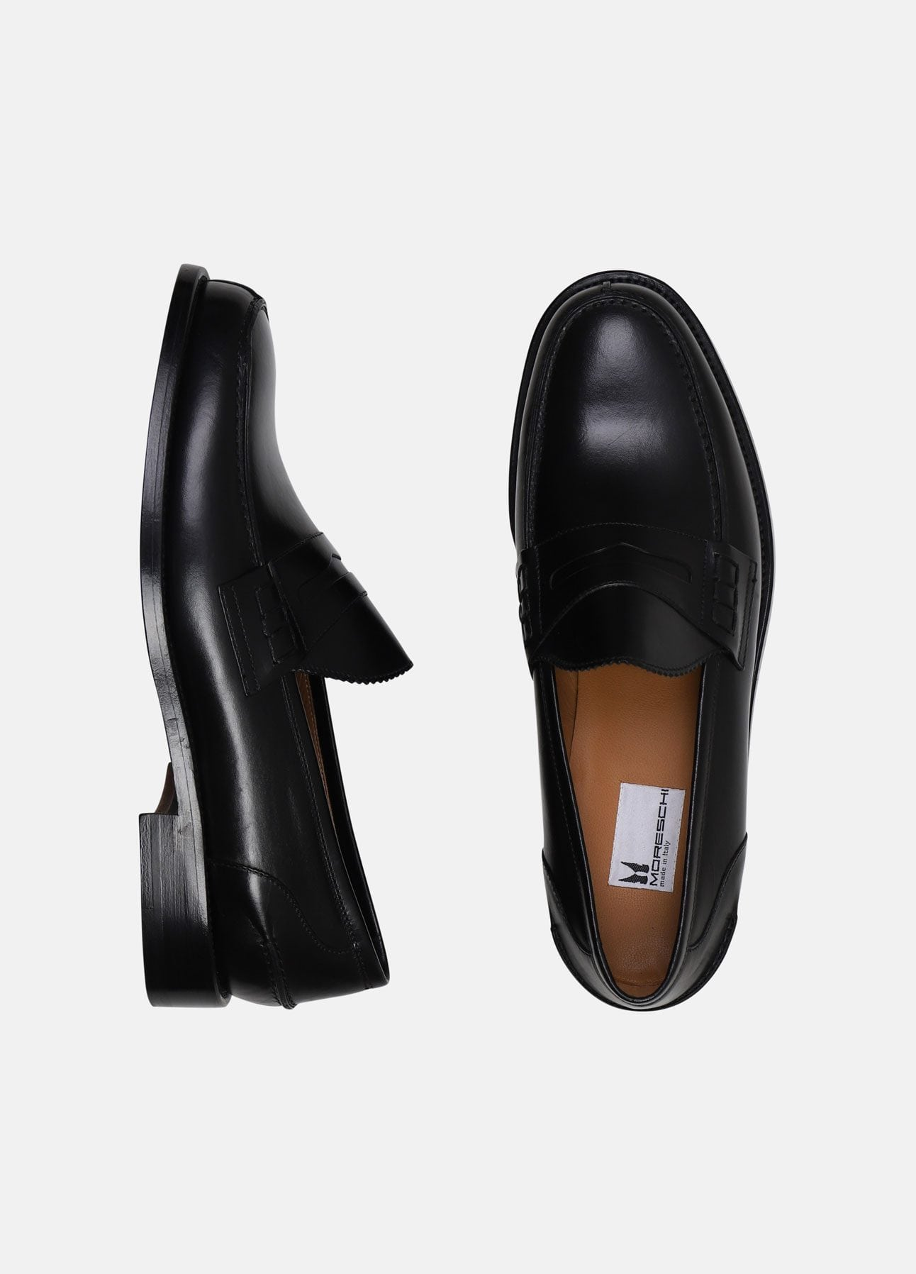 Sorte Vitello Loafers fra Moreschi