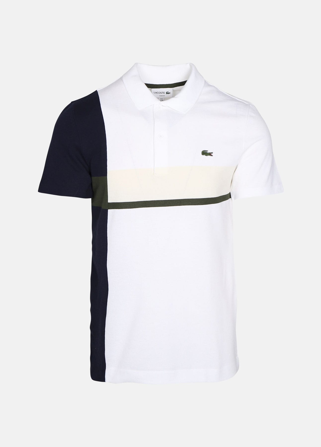 Råhvid polo fra Lacoste