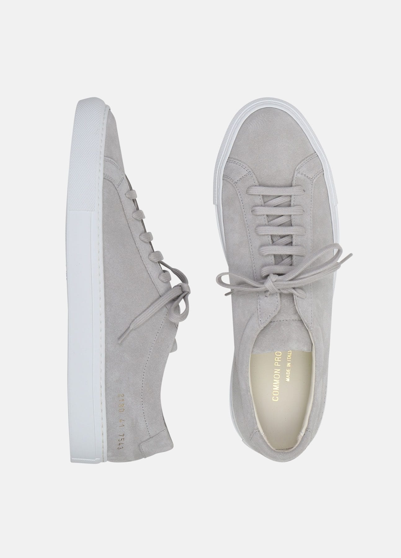 grå ori achilles low sneakers fra common projects
