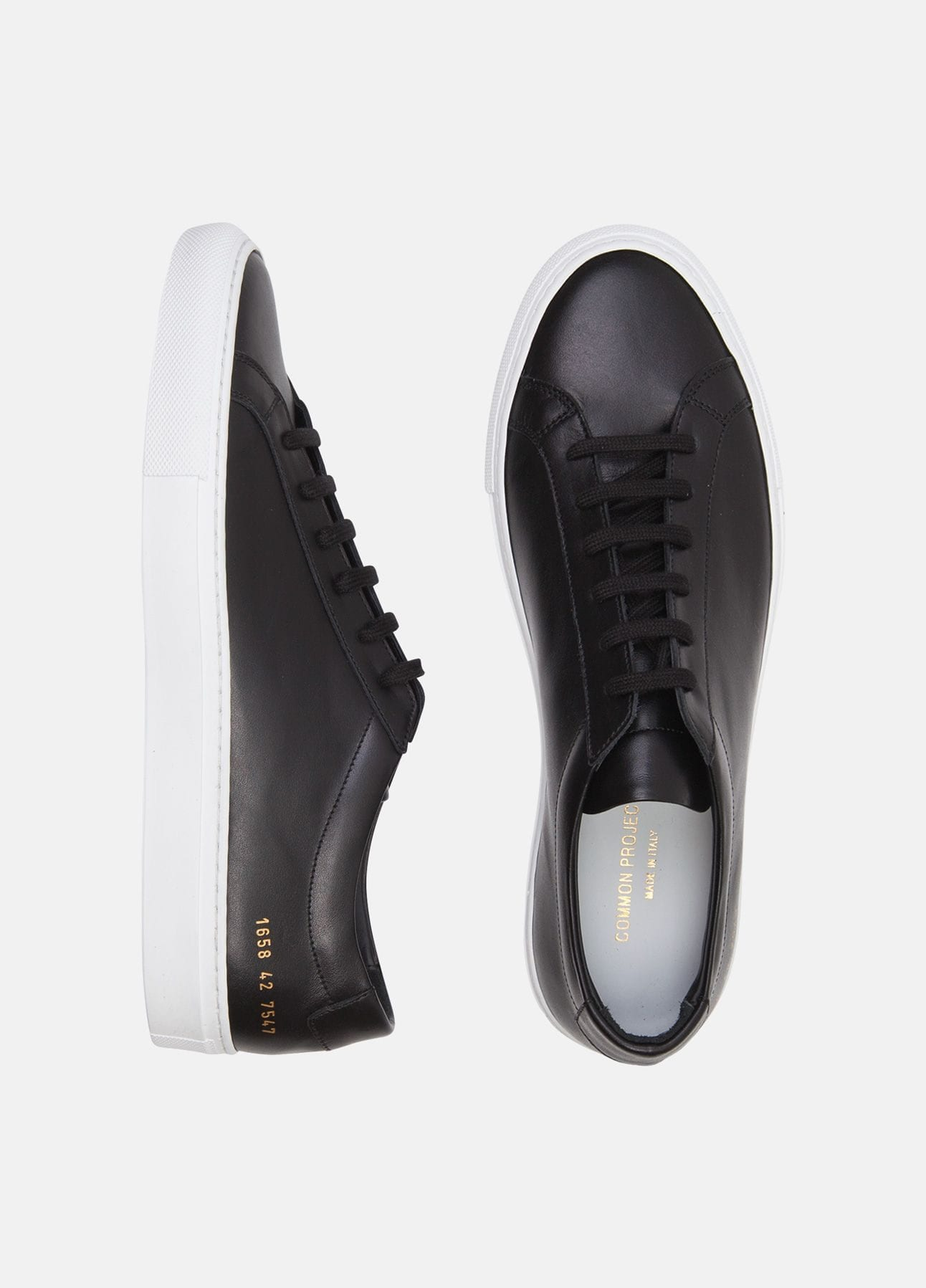 sort original achilles sneakers fra common projects