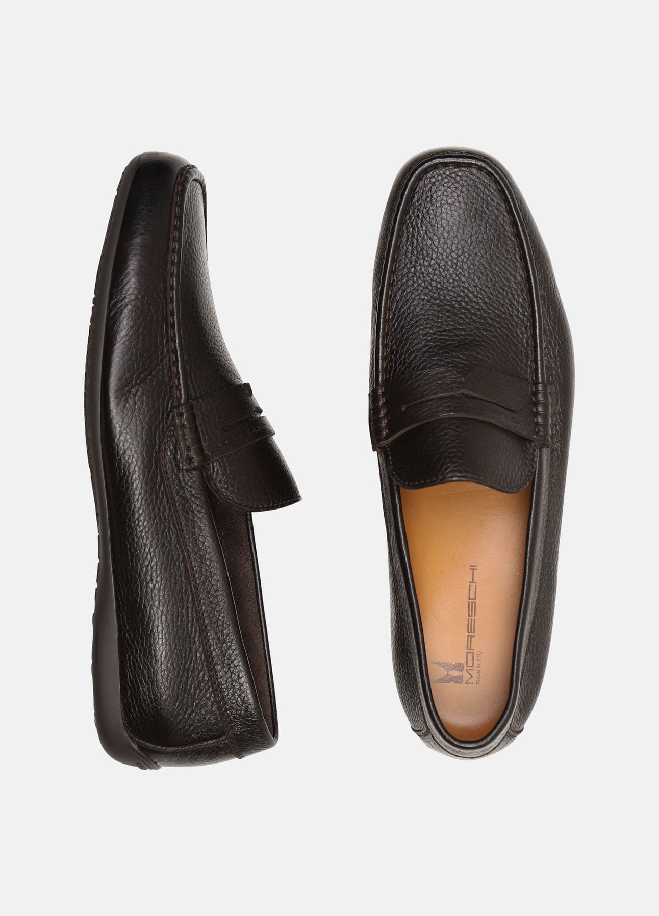 Marrone loafer fra Moreschi