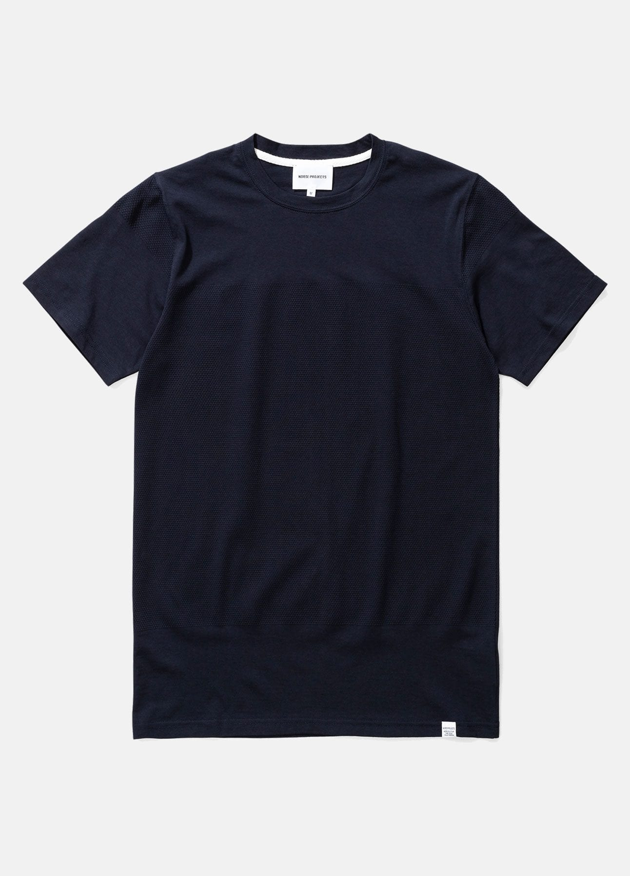 navy niels bubble t-shirt fra norse projects