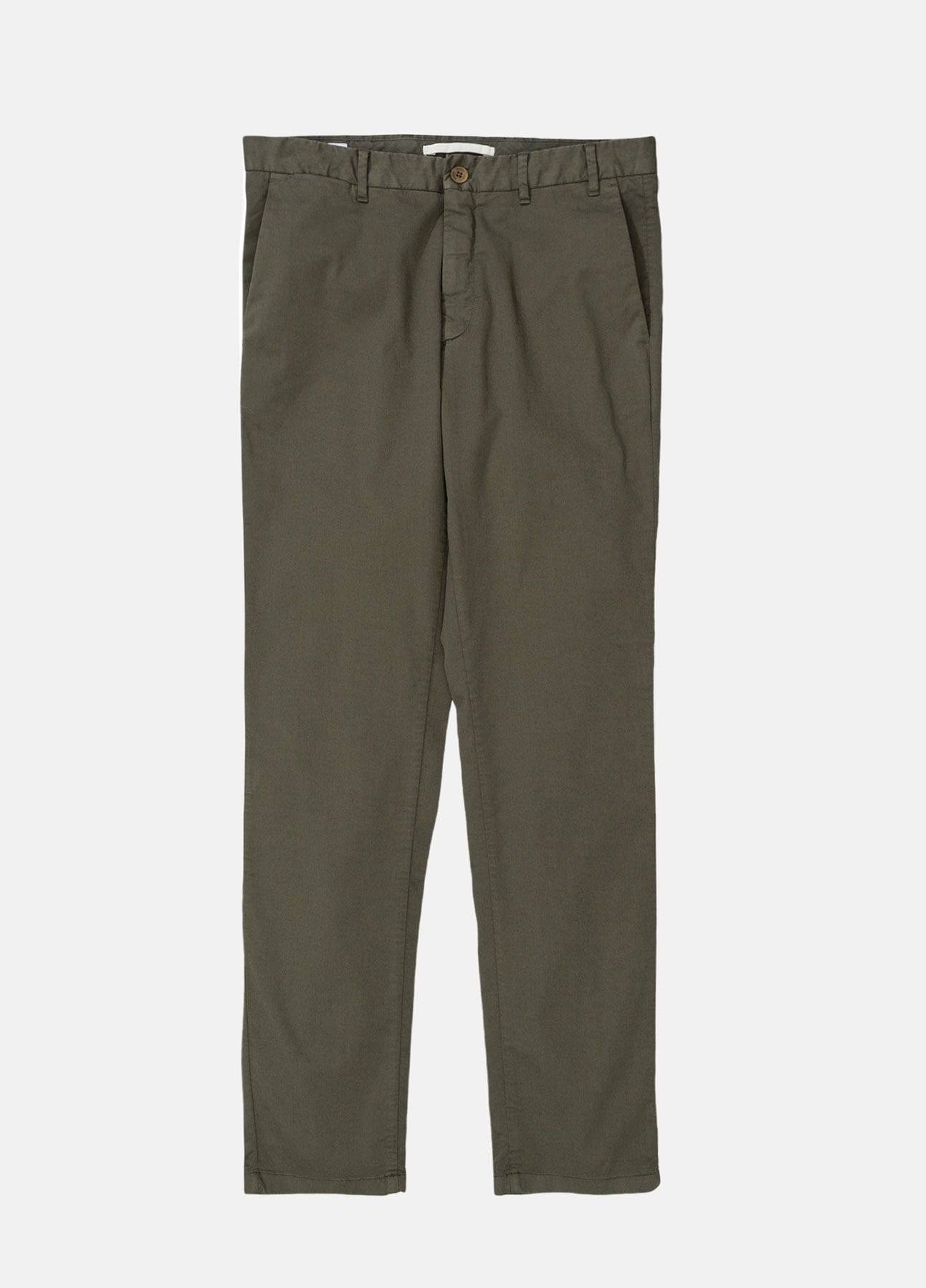 grøn aros slim light stretch chinos fra norse projects