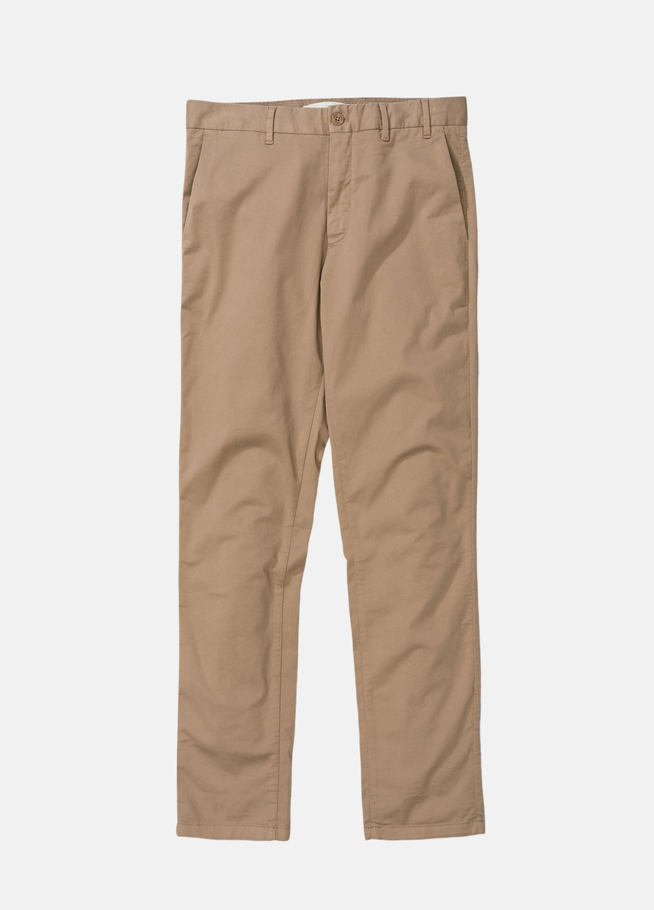 khaki aros slim light stretch chinos fra norse projects