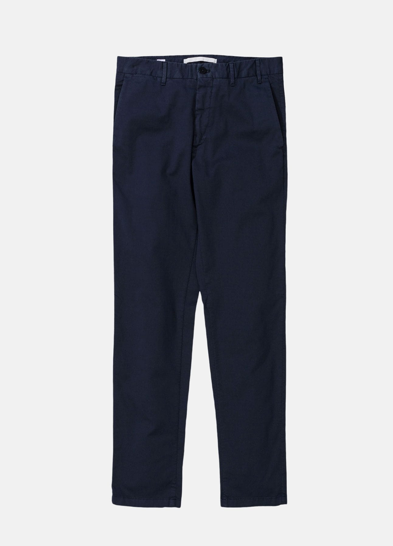 navy aros slim light stretch chinos fra norse projects
