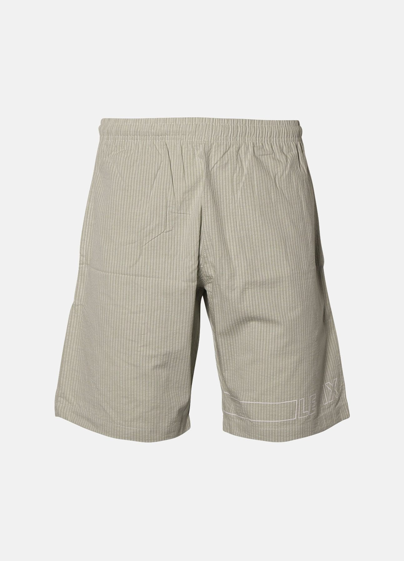 Dust-green Seersucker shorts fra Le Fix