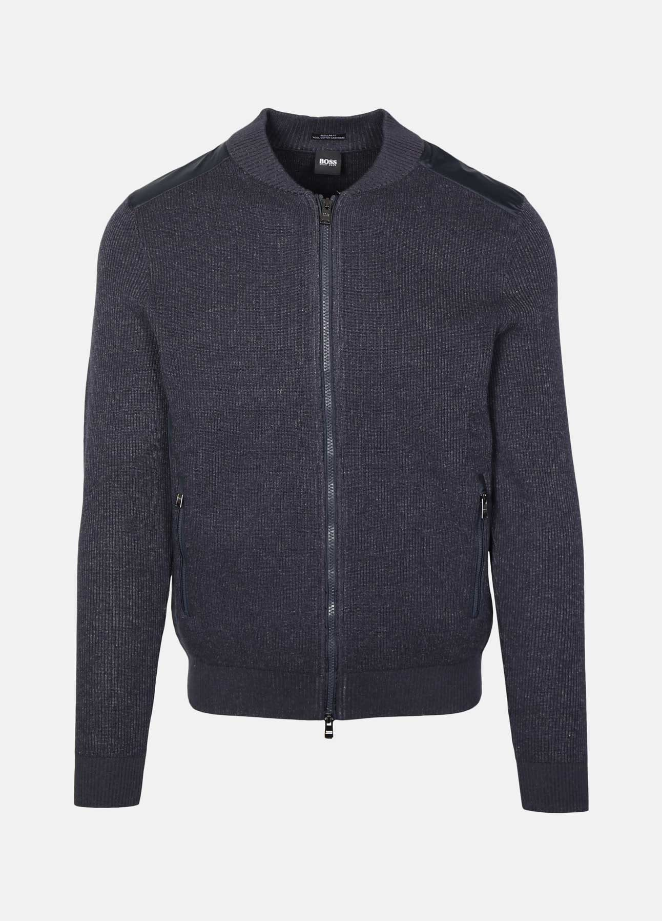 Navy Baraldo Cardigan fra Hugo Boss