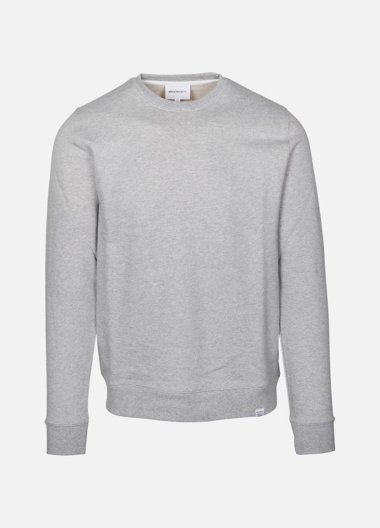 Light Grey Vagn classic sweatshirt fra Norse Projects