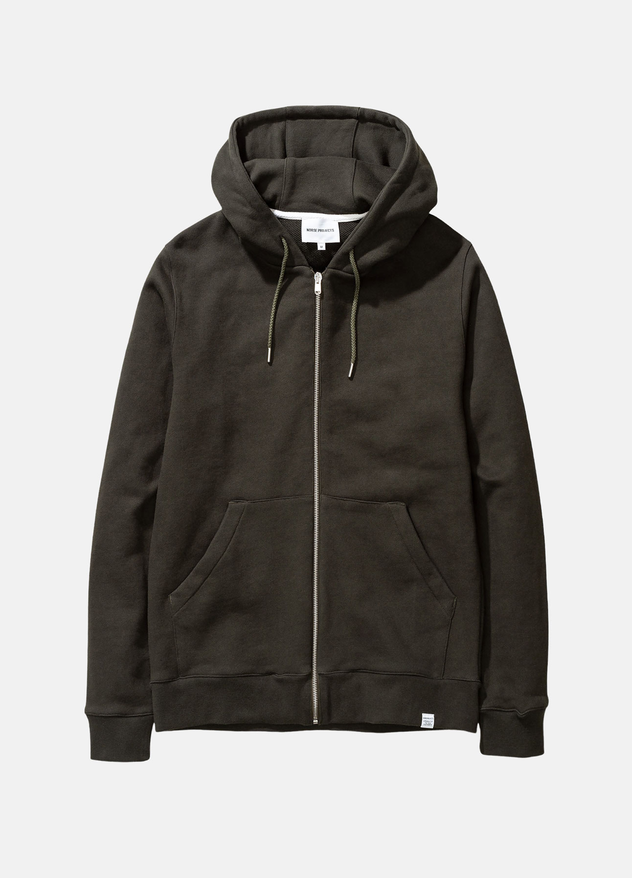 norse projects sweatshirt cagn zip i grøn