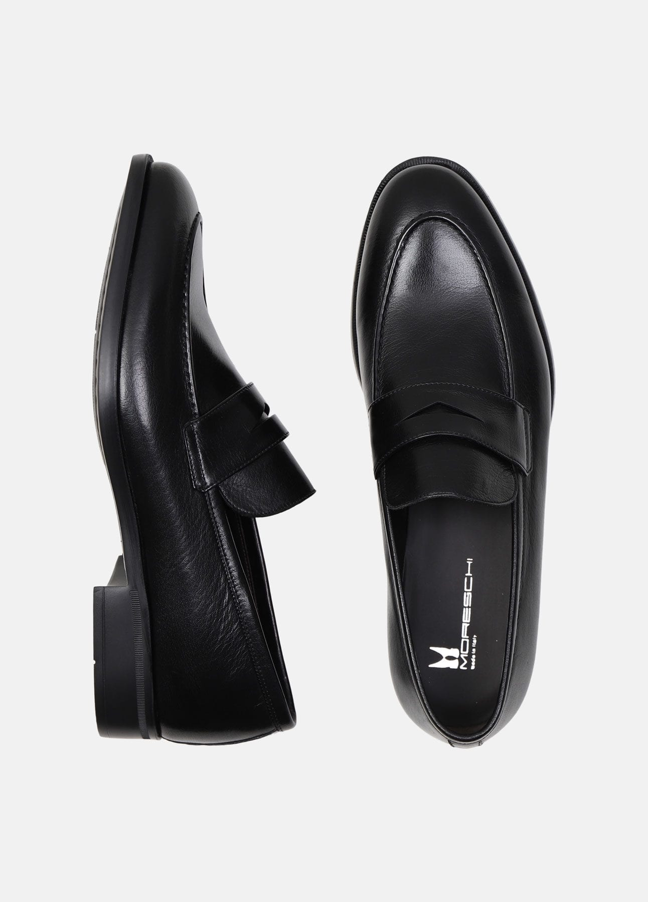 Sorte Sligo loafers fra Moreschi