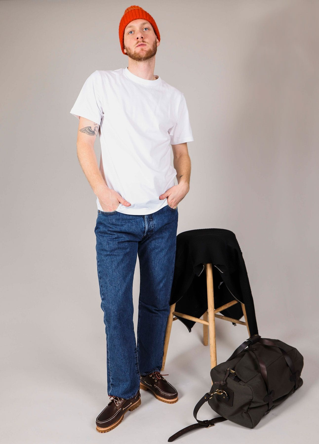 Essentials lookbook hvid Niels t-shirt fra Norse Projects
