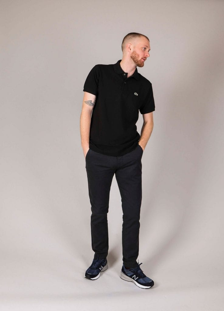 Essentials lookbook Sort L.12.12 polo fra Lacoste