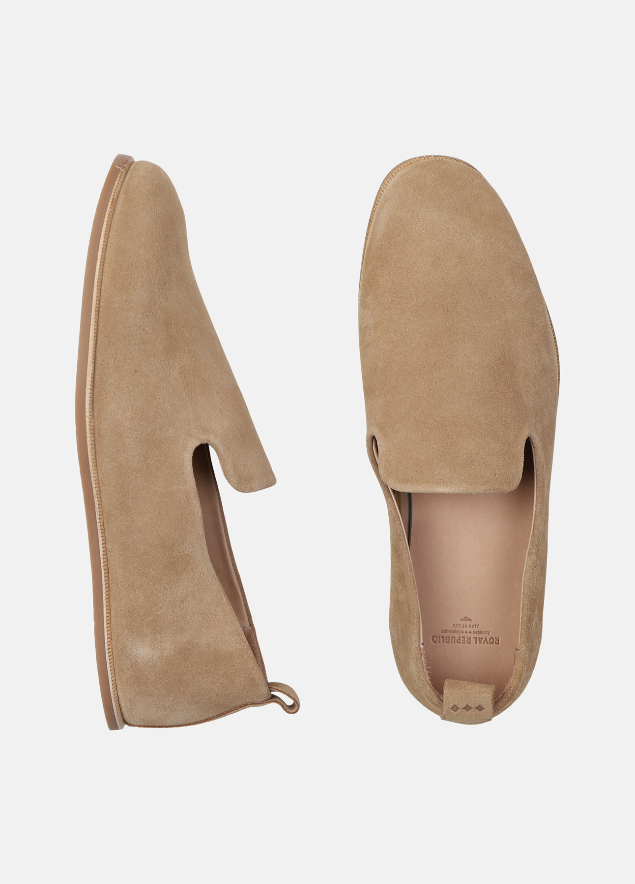 Royal Republiq loafer evo suede camel ss20