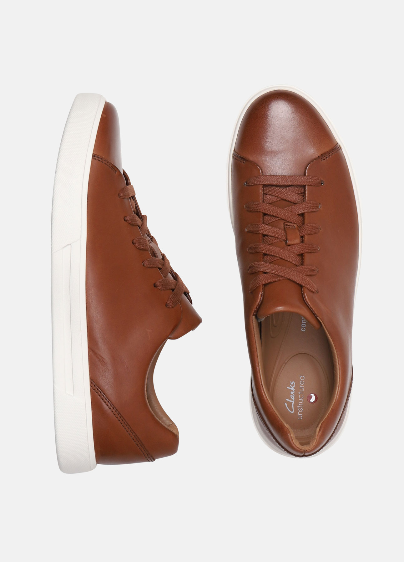 Clarsk sneakers un costa lace british tan ss20