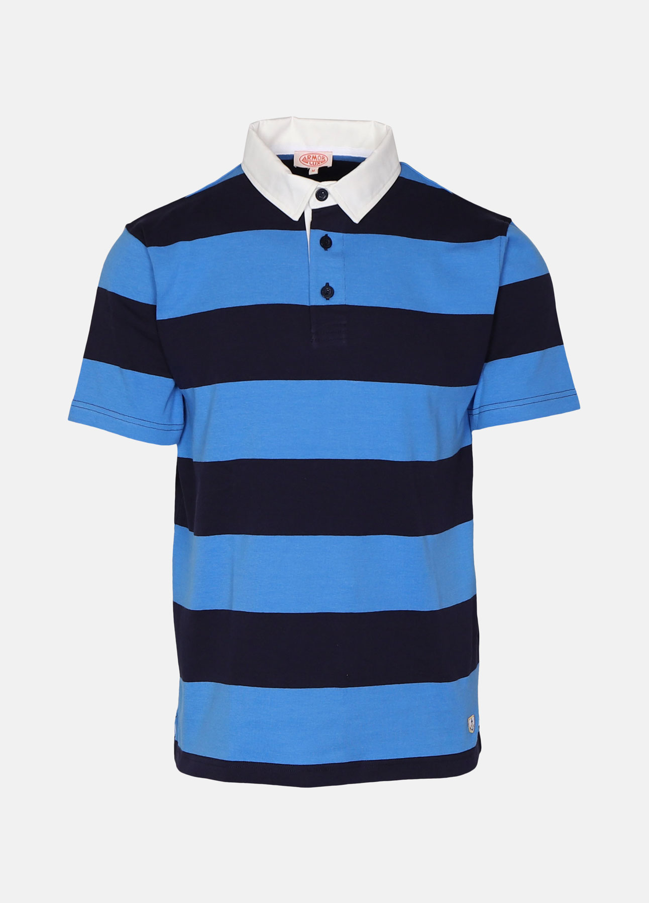 Navy/blå rugby polo shirt fra Armor Lux