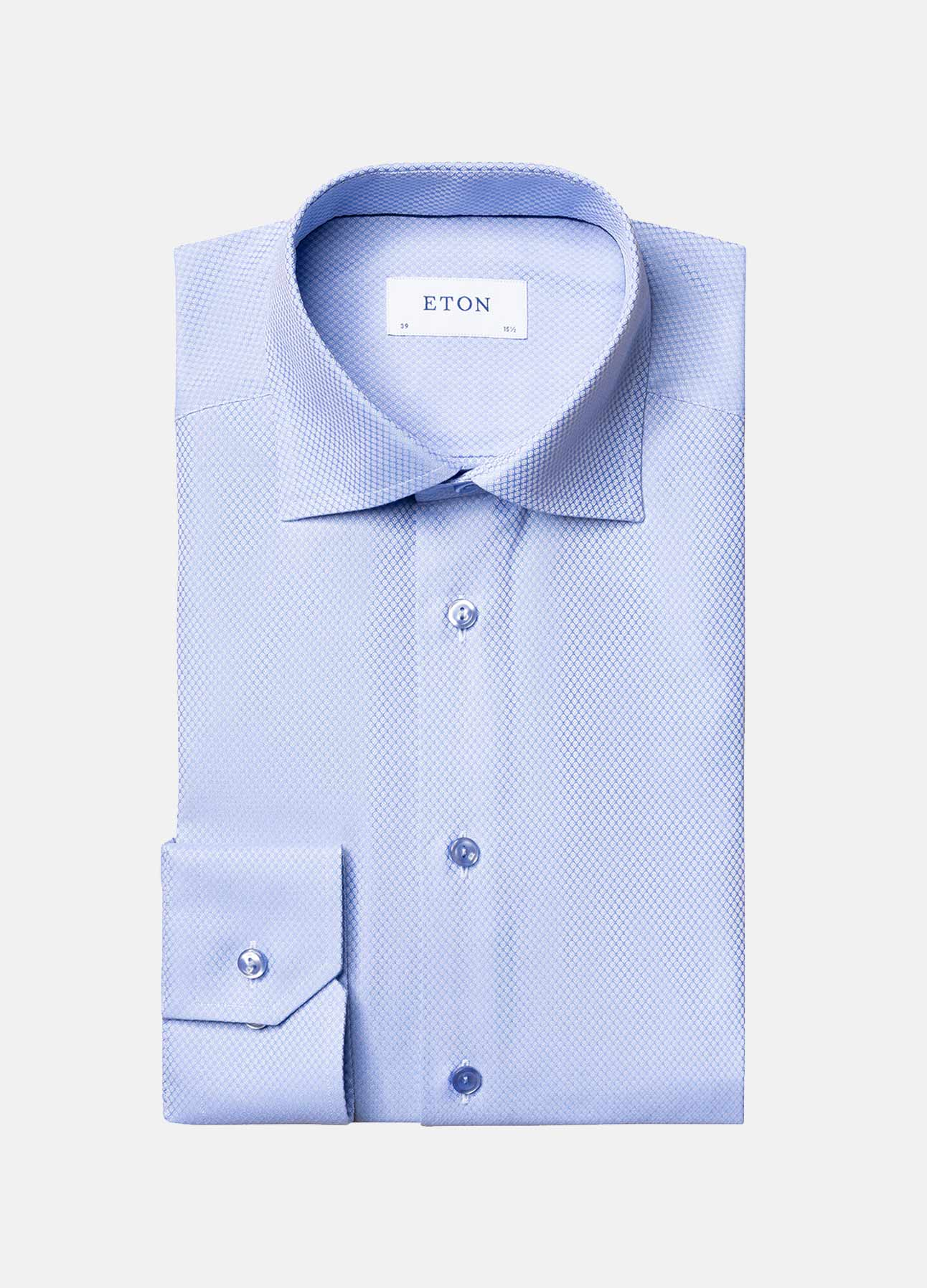 Eton skjorte contemporary fit i blue ss21