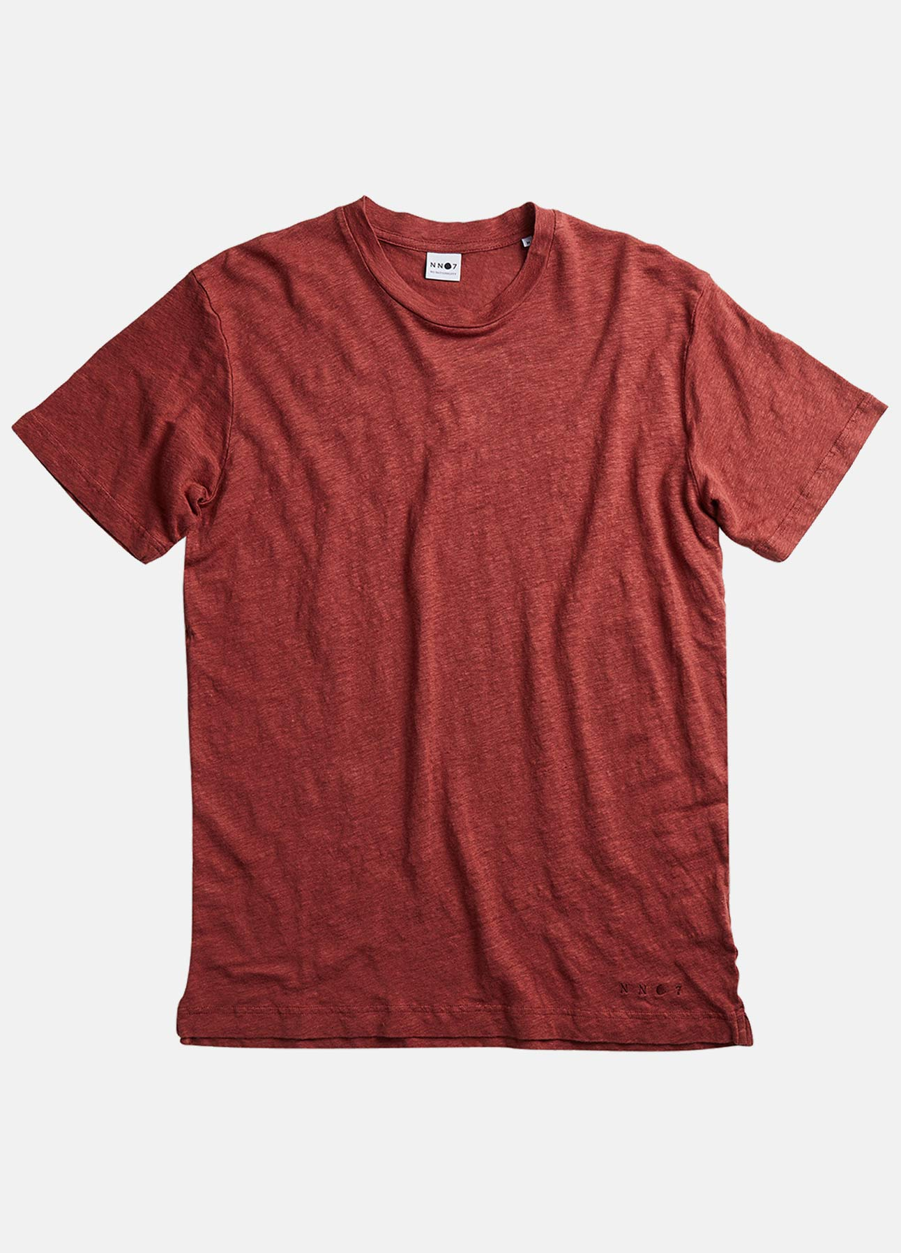 NN07 t-shirt dylan burned red ss21