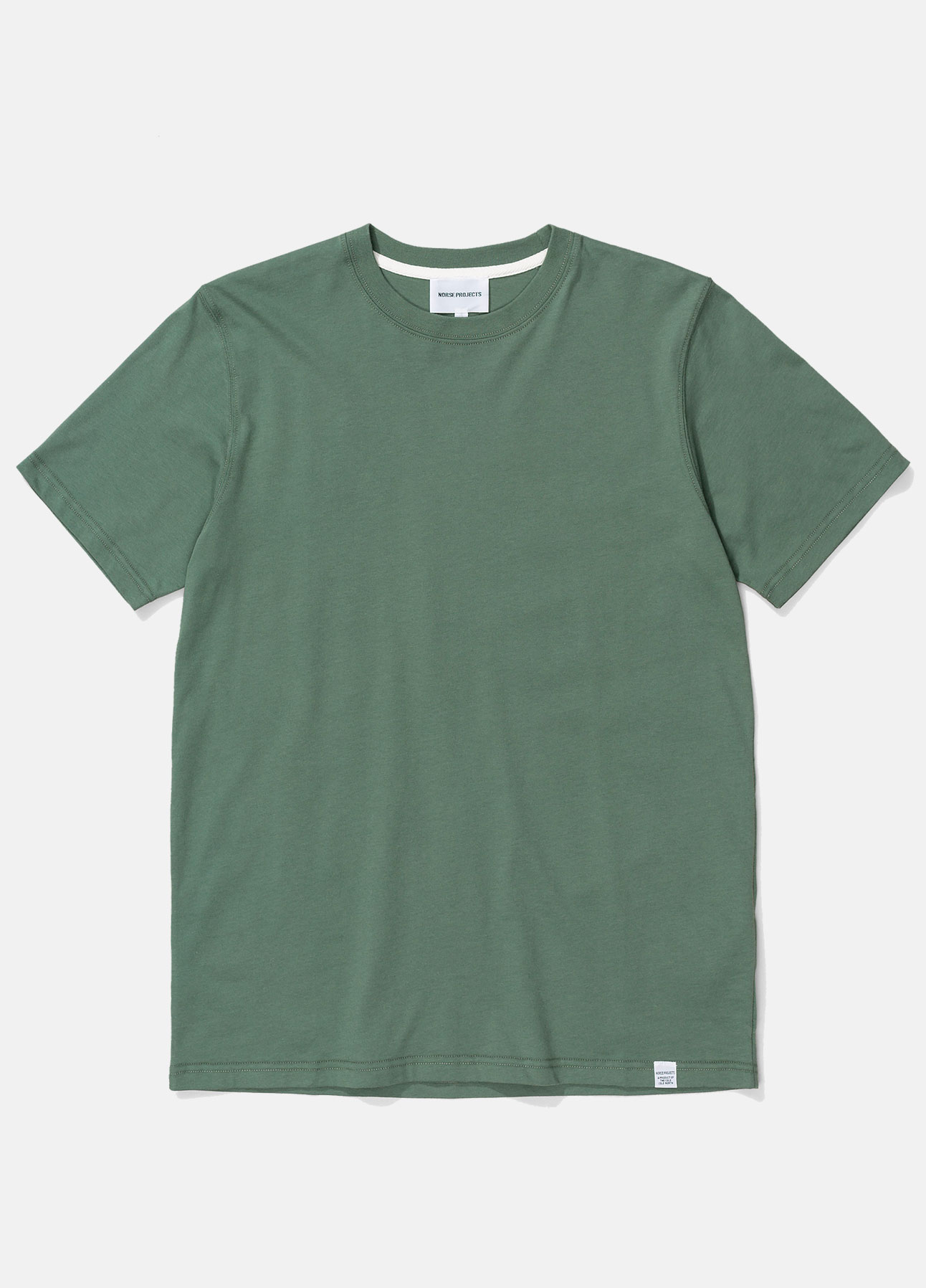 Norse projects t-shirt niels i moss green ss21